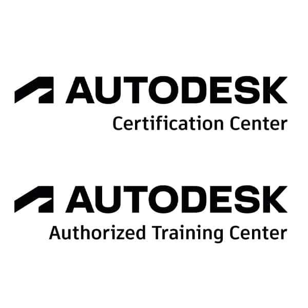 Logos von Autodesk Certification Center und Autodesk Authorized Training Center