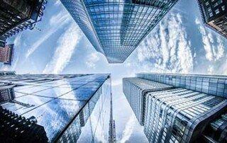 Hochhäuser aus Glas