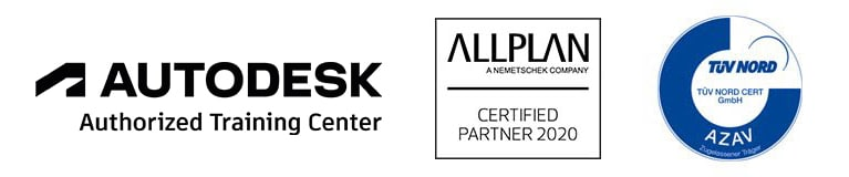 Zertifikate von Autodesk, Allplan und TÜV Nord