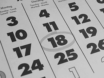 Kalender Kursstarts