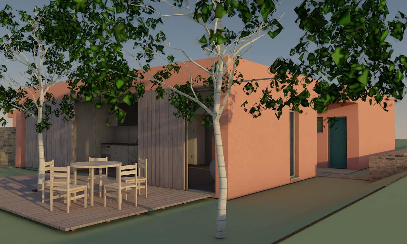 Bild Entwurf Gästehaus 2