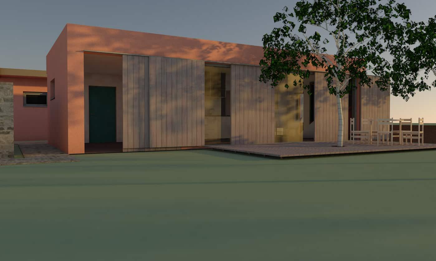Entwurf Gästehaus 1