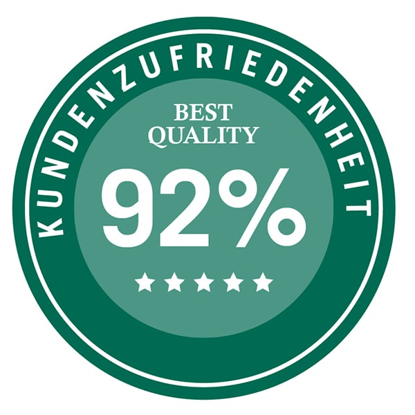Auszeichnung 92% Kundenzufriedenheit